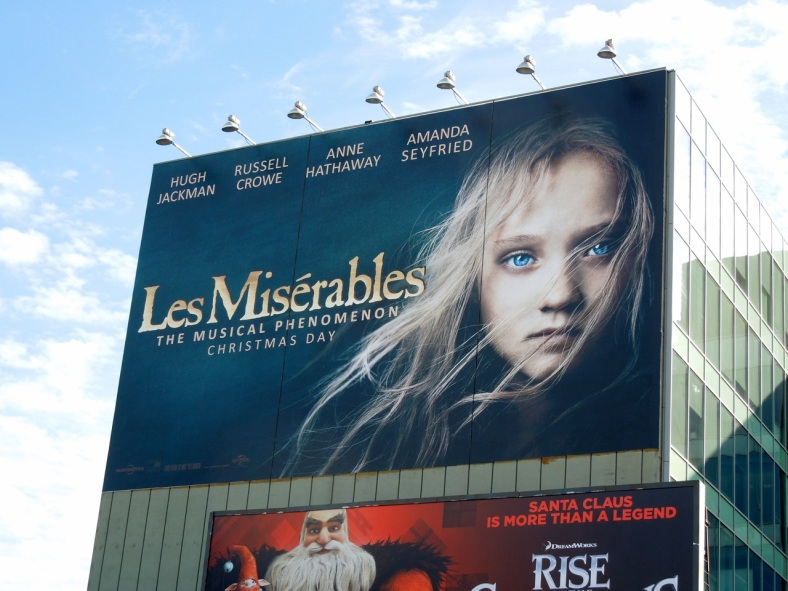 Giant Les Miserables film billboard