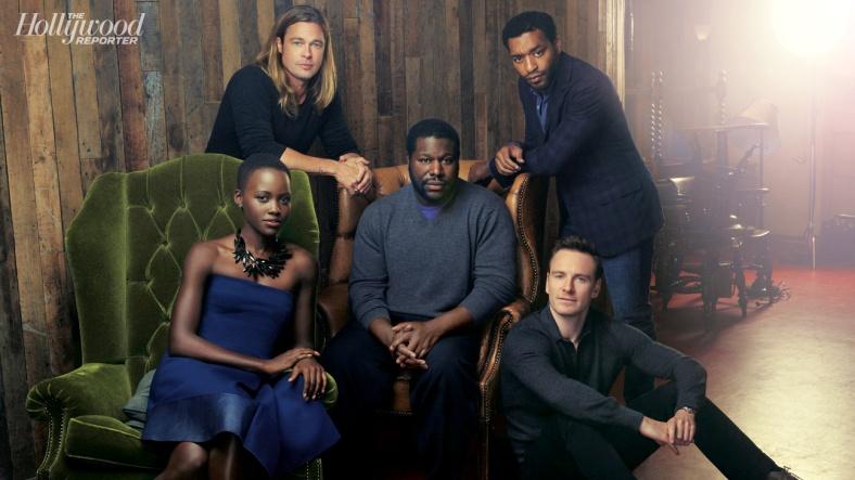 Chiwetel-Ejiofor-Lupita-Nyong'o-Brad-Pitt-Steve-McQueen-Michael-Fassbender 12 years