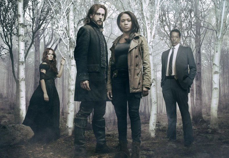 (L-R) Katia Winter as Katrina Crane, Tom Mison as Ichabod Crane, Nicole Beharie as Abbie Archer and Orlando Jones as Detective Frank Irving in Sleepy Hollow.