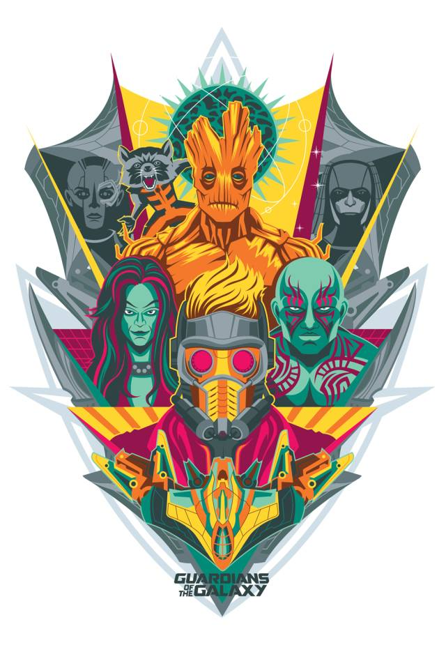 guardians of the galaxy poster art