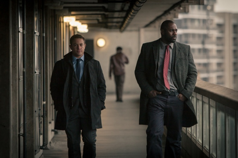 Picture shows: DS Justin Ripley (WARREN BROWN) and DCI John Luther (IDRIS ELBA)
