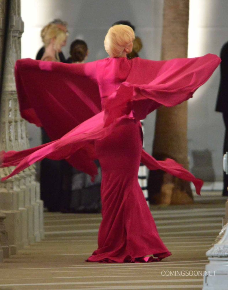 "51828250 Singer Lady Gaga films a scene for ""American Horror Story: Hotel"" at LACMA on August 19, 2015 in Los Angeles, California. FameFlynet, Inc - Beverly Hills, CA, USA - +1 (818) 307-4813"