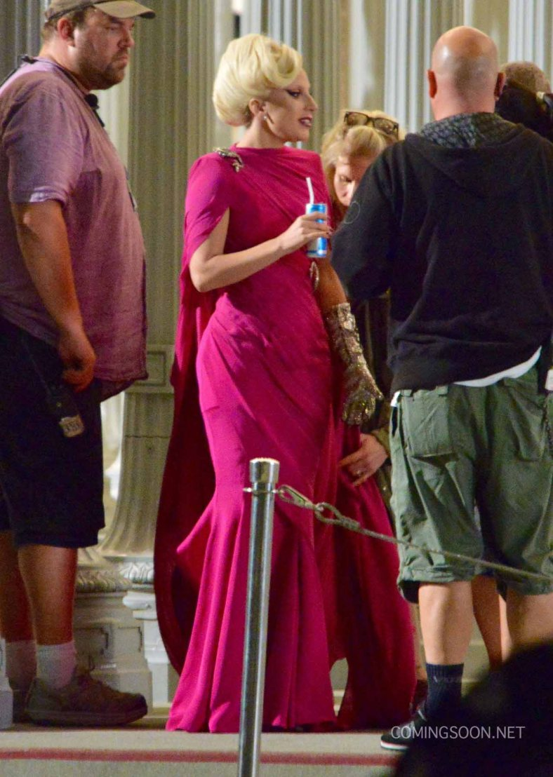 "51828246 Singer Lady Gaga films a scene for ""American Horror Story: Hotel"" at LACMA on August 19, 2015 in Los Angeles, California. FameFlynet, Inc - Beverly Hills, CA, USA - +1 (818) 307-4813"