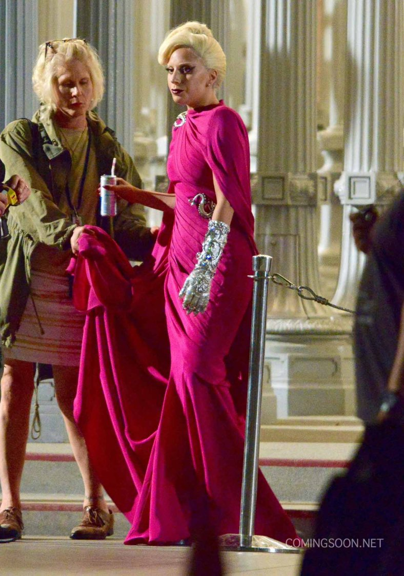 "51828247 Singer Lady Gaga films a scene for ""American Horror Story: Hotel"" at LACMA on August 19, 2015 in Los Angeles, California. FameFlynet, Inc - Beverly Hills, CA, USA - +1 (818) 307-4813"