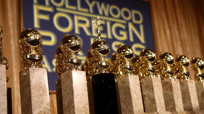 BEVERLY HILLS, CA - JANUARY 06:  The new 2009 Golden Globe statuettes are on display during an unveiling by the Hollywood Foreign Press Association at the Beverly Hilton Hotel on January 6, 2009 in Beverly Hills, California. The 66th annual Golden Globe Awards are scheduled for January 11.  (Photo by Alberto E. Rodriguez/WireImage)