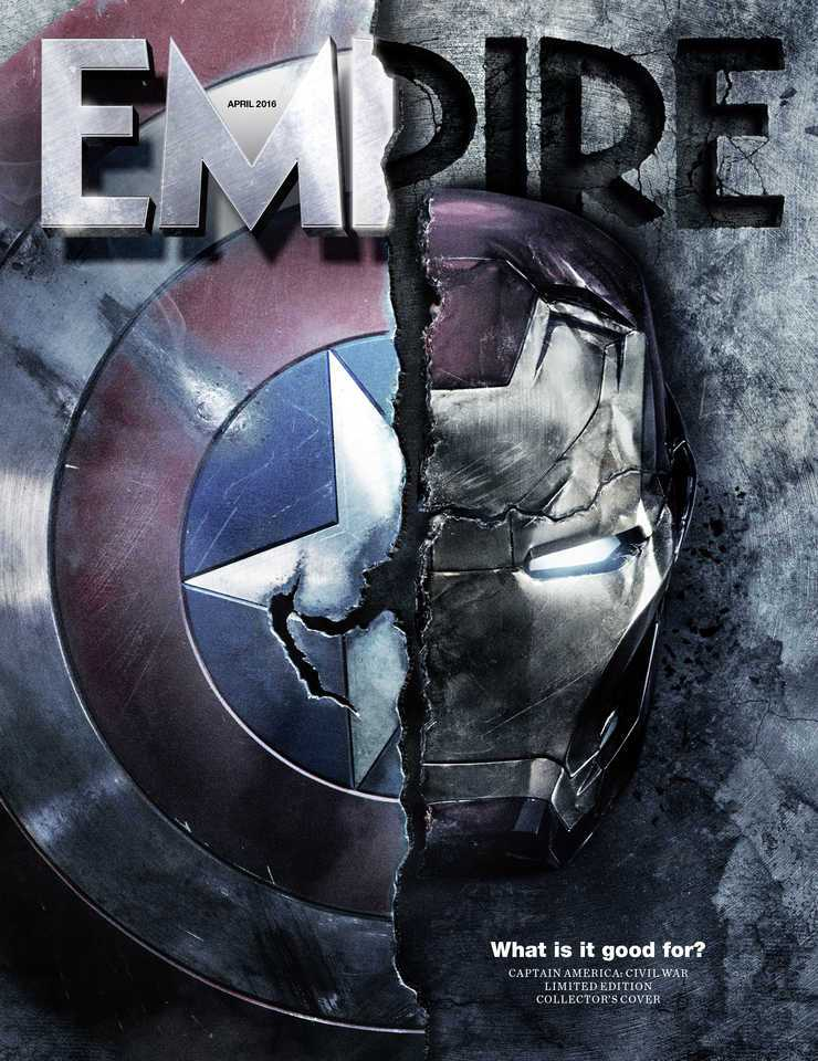 Captain America Civil War empire cover