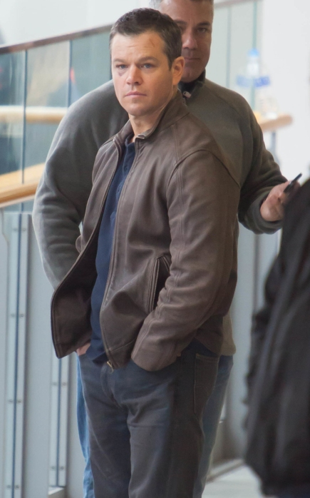 Matt Damon films scenes for 'Jason Bourne'