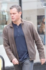 Matt Damon filming scenes for 'Jason Bourne'