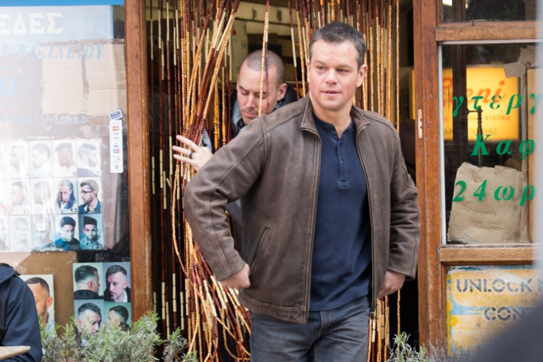 Matt Damon is spotted filming scenes for 'Jason Bourne' on the Streets of Woolwich Featuring: Matt Damon Where: London, United Kingdom When: 21 Mar 2016 Credit: WENN.com